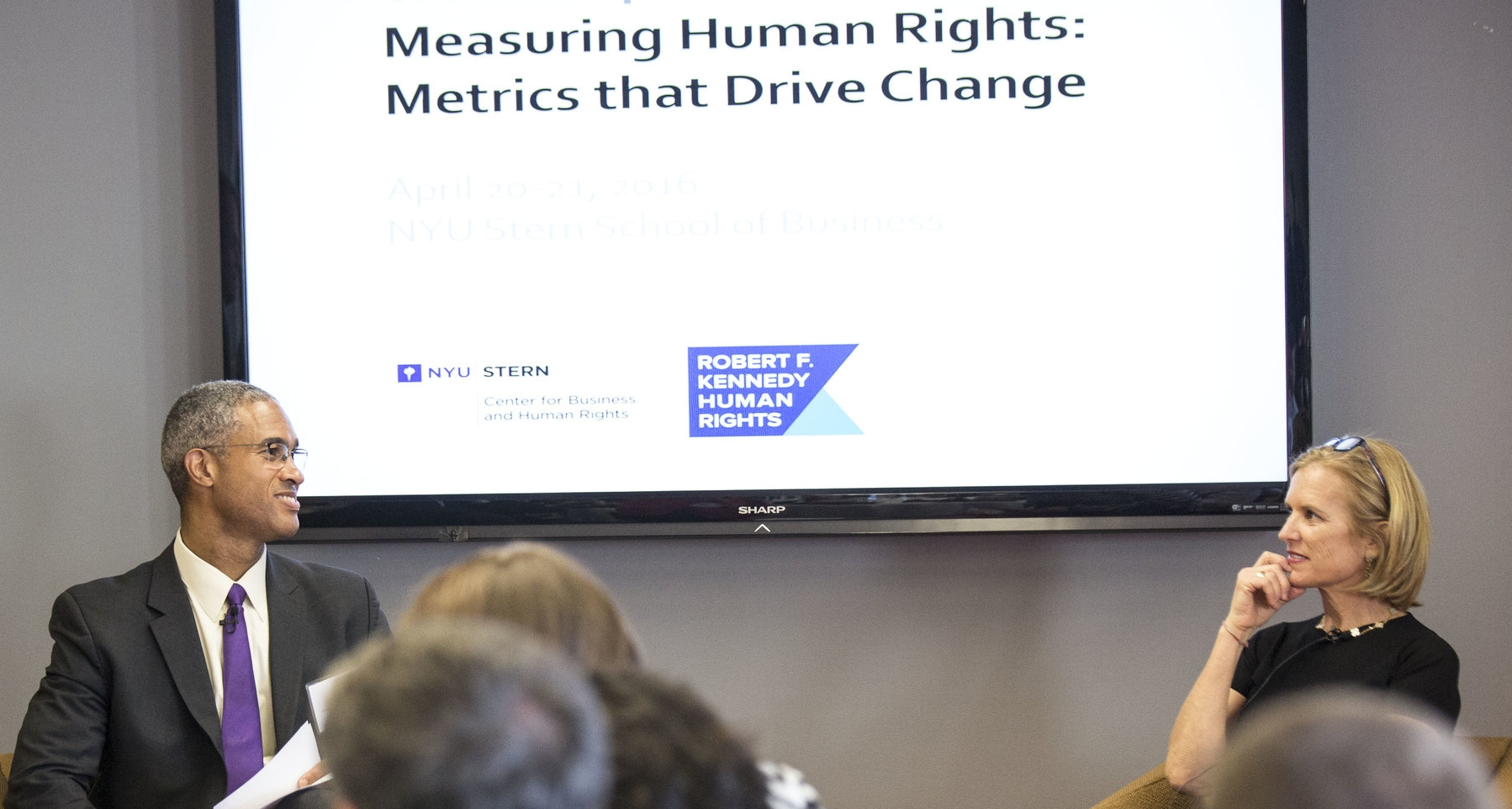 Former Dean Peter Henry discusses the need for better human rights performance metrics for investors with Kerry Kennedy