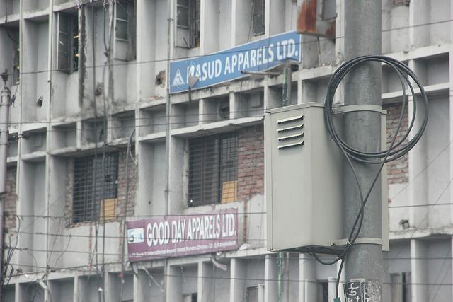 Subcontracting factories in Dhaka, Bangladesh.