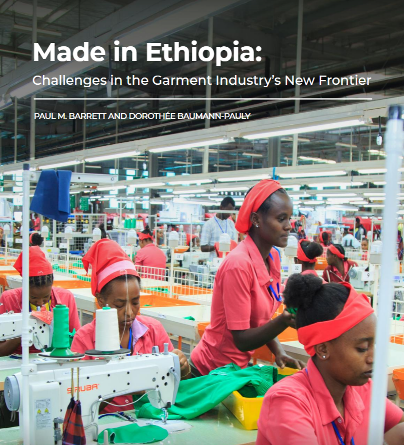 Center publishes new report on the clothing industry in Ethiopia.