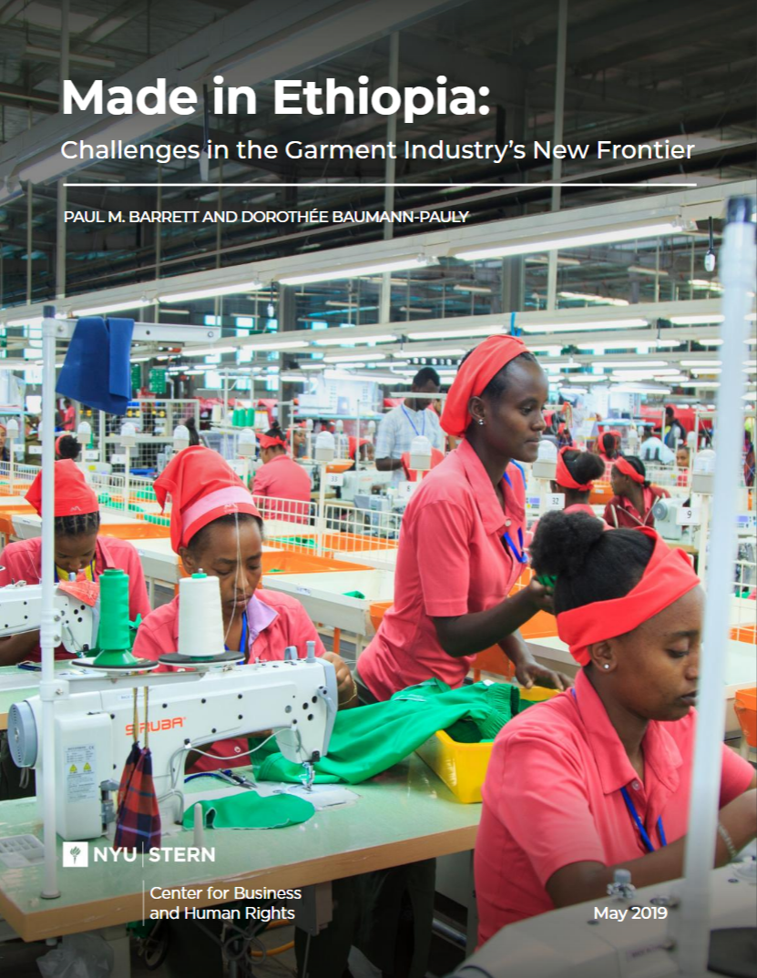 A new frontier in garment manufacturing - In recent years, Ethiopia has launched a bold economic and social experiment by inviting the global garment industry to set up shop in the East African country. The CBHR team researched the challenges and opportunities. Read our recommendations for the Ethiopian Government.———————————————Hawassa Industrial Park: The work pace is intense, but this is not a traditional sweatshop. Read about working in the Hawassa Industrial Park.