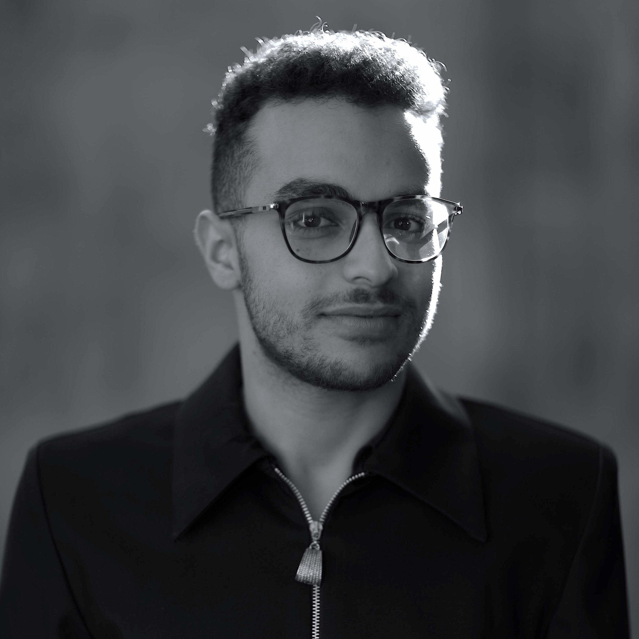 Playwright Adam A. Elsayigh, photograph by Khaled Abol Naga