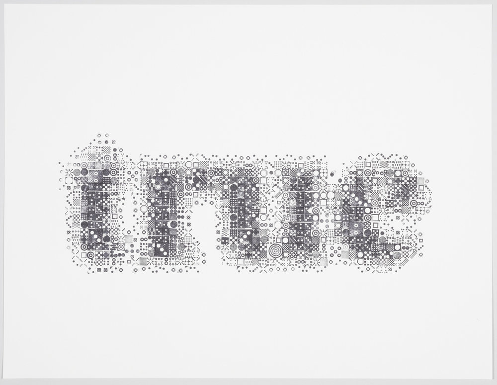 Print, Seeing through Circles, 2013 hand-stamped print. Courtesy of Kyuha Shim.
