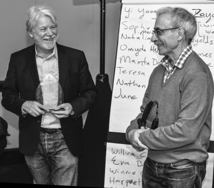 Receiving the Leaders Award with Neil Altman from the Multi-Cultural Concerns Committee, Division of Psychoanalysis, American Psychological Association, 2015