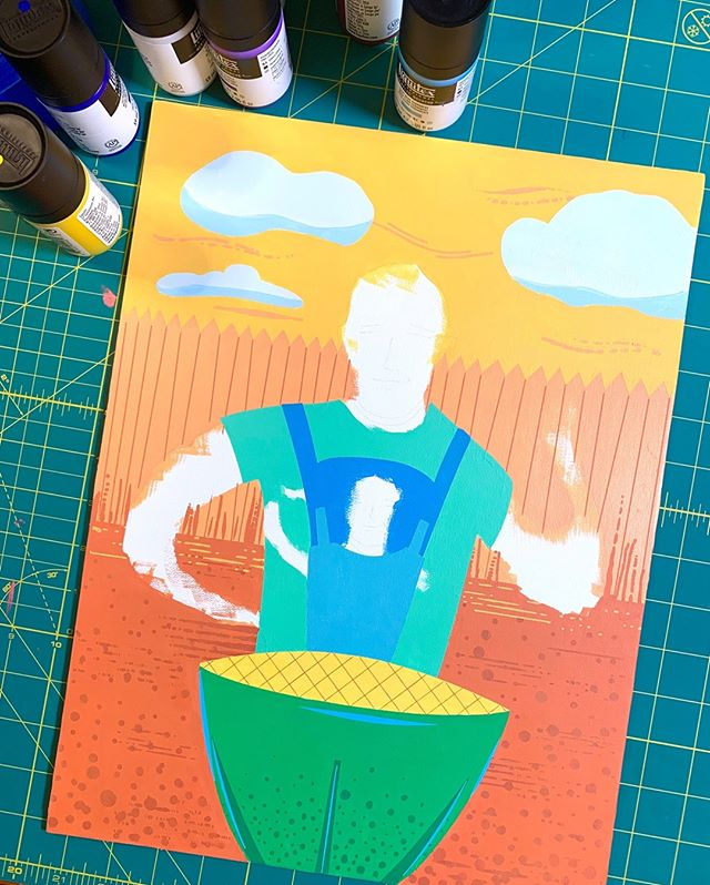 Painting is coming along nicely! For those interested, this is @liquitexofficial acrylic gouache. Out of the bottle it has a very matte finish, although I tend to like just a tad of semi gloss on the varnish side (but not too much). . . . . . #greenegg #grill #grilling #grillingseason #backyardbbq #bbqtime #biggreenegg #artoftheday #artwork #artistic #artistsofinstagram #colorful #atx #illustration #illustrationart #wip #acrylicpaint #acrylic #wip #arts #austin #austintexas #texas #art #austinart  #atxstyle #atxlife #colorful #austinart #fineart
