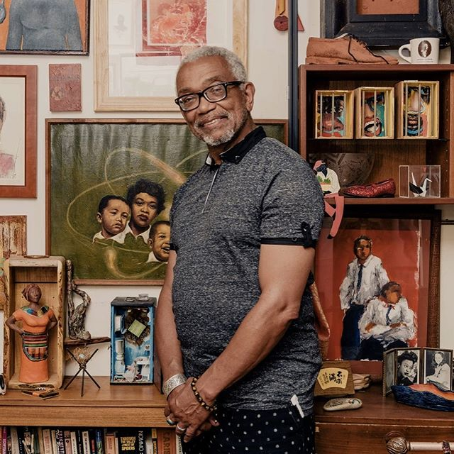 """Reposted from @SmartMuseum: """"There are so many different prejudices in the American scene that keep people from thinking of themselves as art collectors...All you have to do is look at something and say, 'I like that, and I want to buy it,' and then you're an art collector."""" @diasporalrhythms co-founder Patric McCoy, who bought his first lithograph for $10 as an undergraduate at @uchicago, shared his egalitarian collection of 1,300 works in the @nytimes this week. We're honored to include Patric's reflections in the upcoming catalogue 'The Time Is Now! Art Worlds of Chicago's South Side, 1960–1980,' where he writes about collecting works by Black artists. . . . #showusyourwall #thetimeisnow #artcollector #smartmuseum #blackart #uchicago #uchicagoarts #uchicagoalumni"""