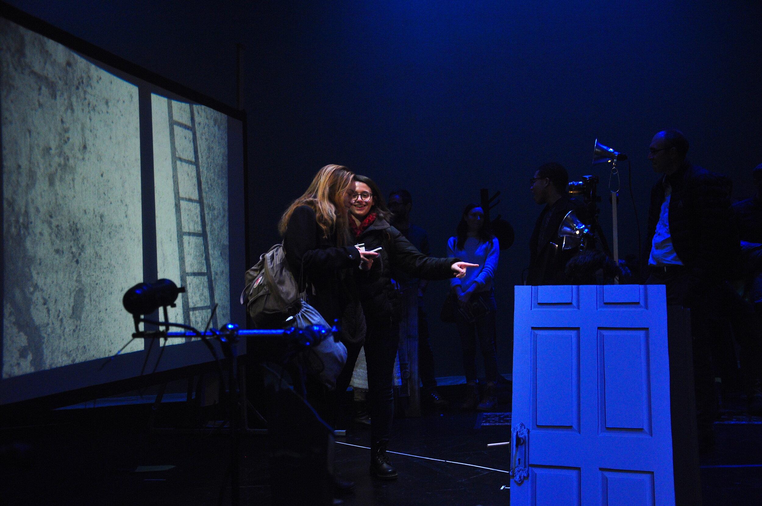 Students enjoy the ArtsPass event at Court Theater's  Frankenstein  in 2018.   Photo: Margaret Hart
