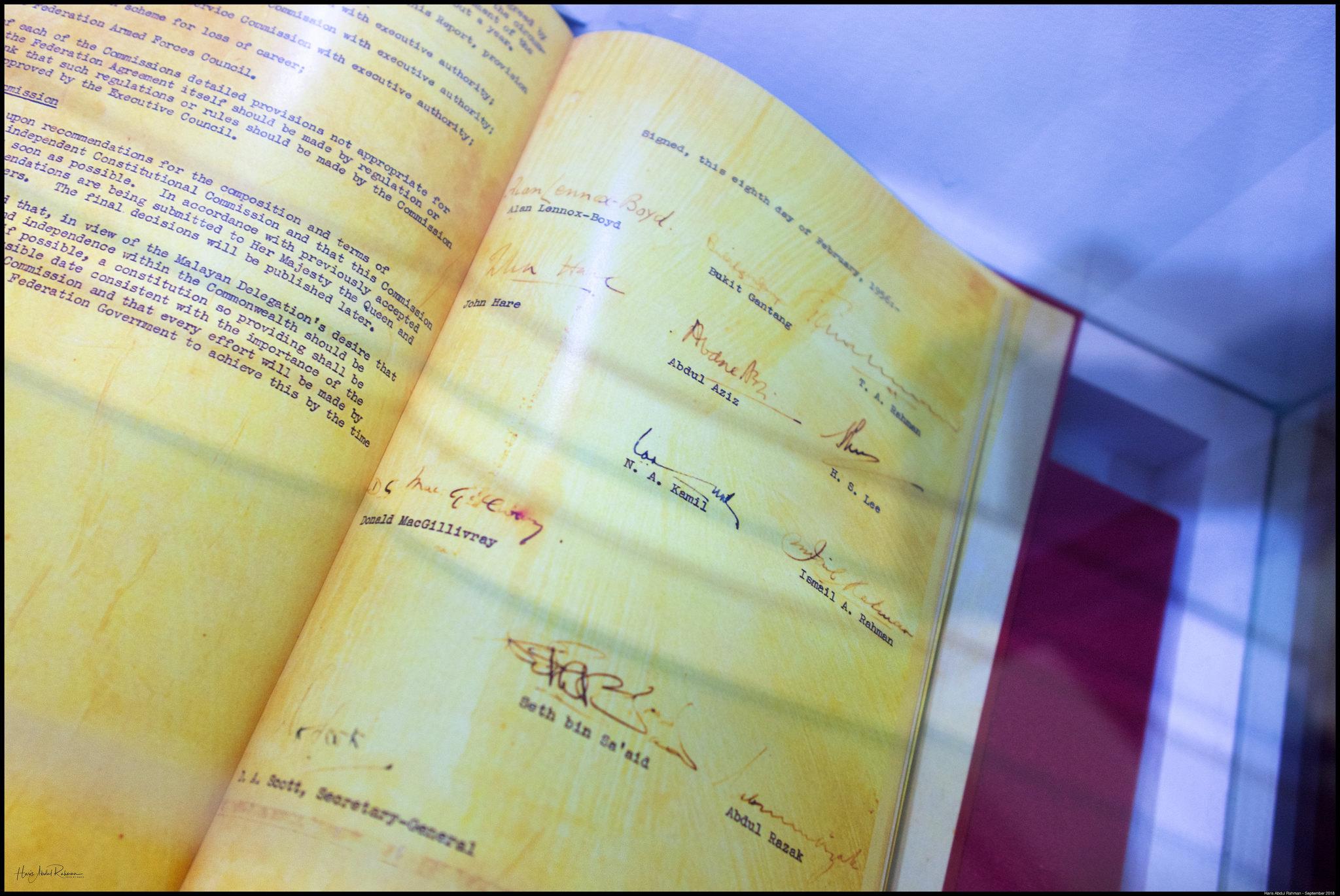 Signatures for Declaration of Merdeka