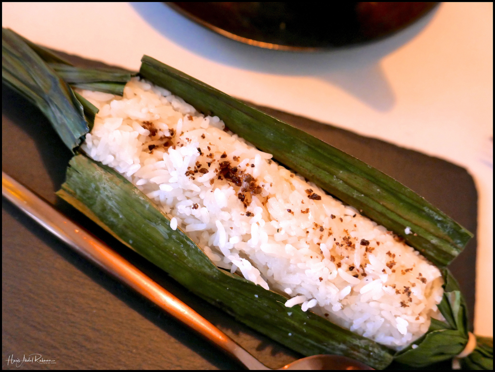 The rice was cooked in small batches …
