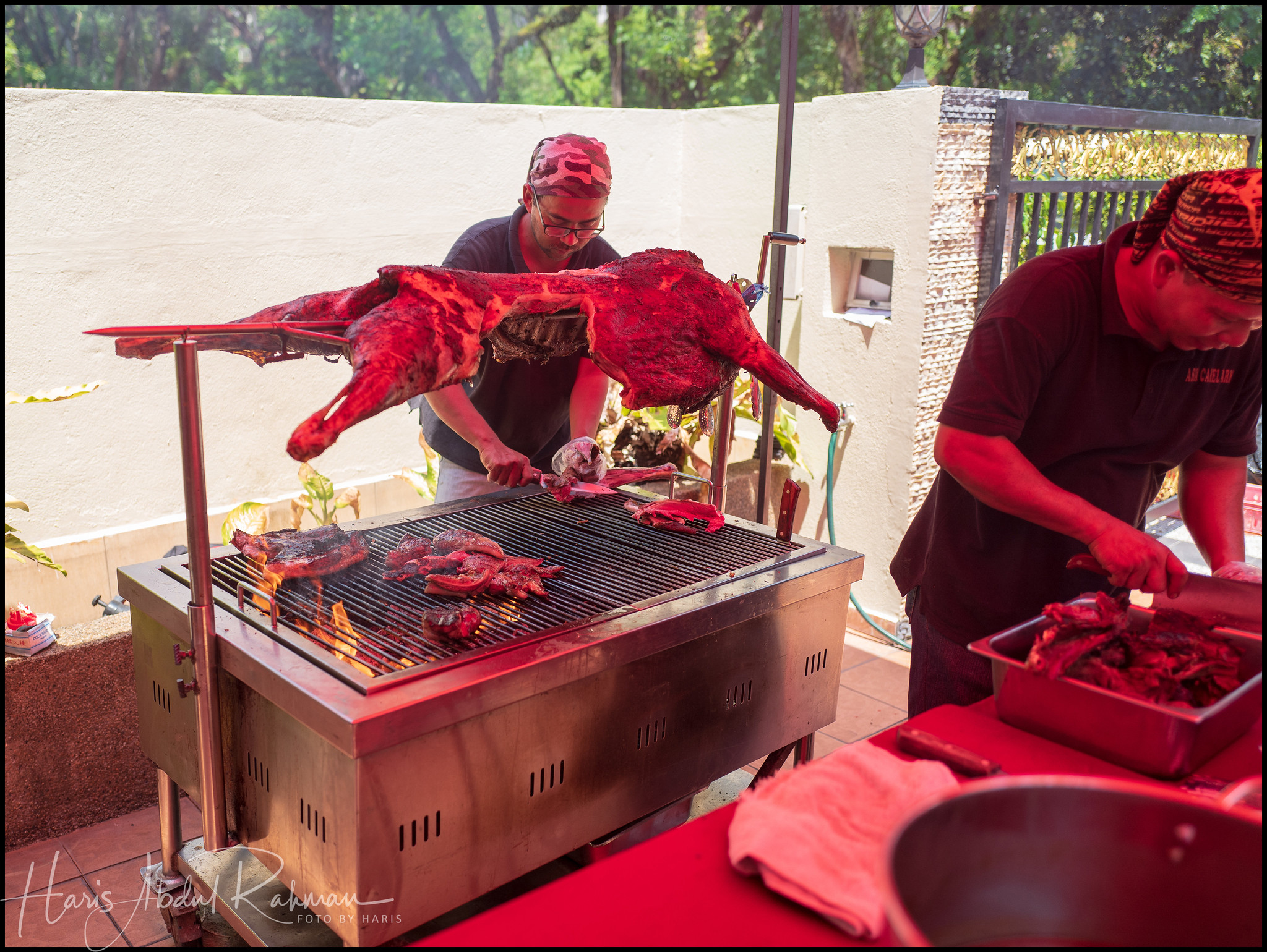 """The main attraction had to be this """"kambing golek"""""""