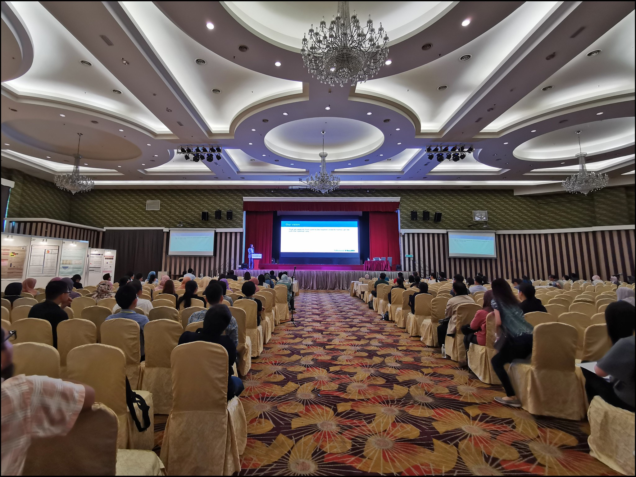 The main ballroom at Kinta Riverside was surprisingly big and easily accommodated the 500-odd delegates