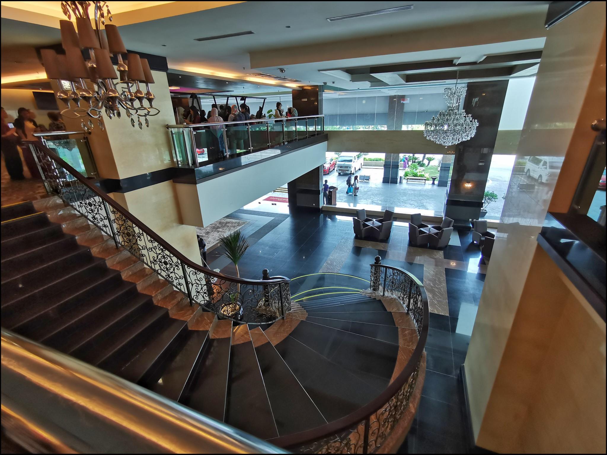The main lobby of the hotel