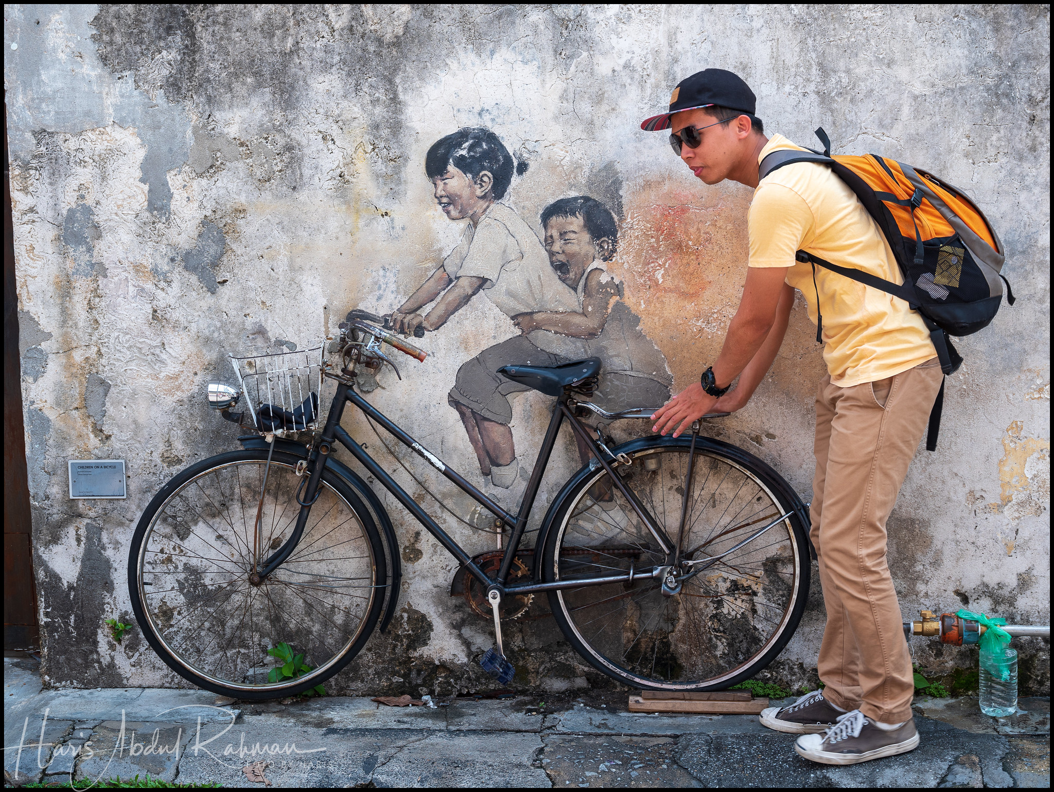 "The famous ""Little Children on a Bicycle"" by Ernest Zacharevic"