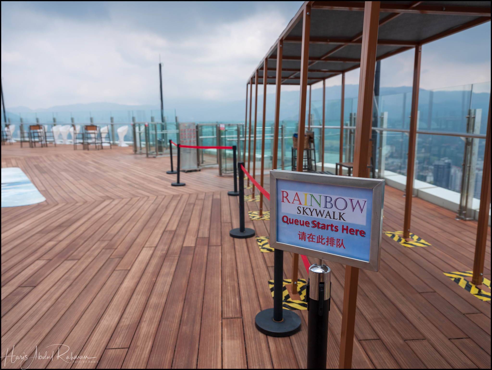 At the highest deck