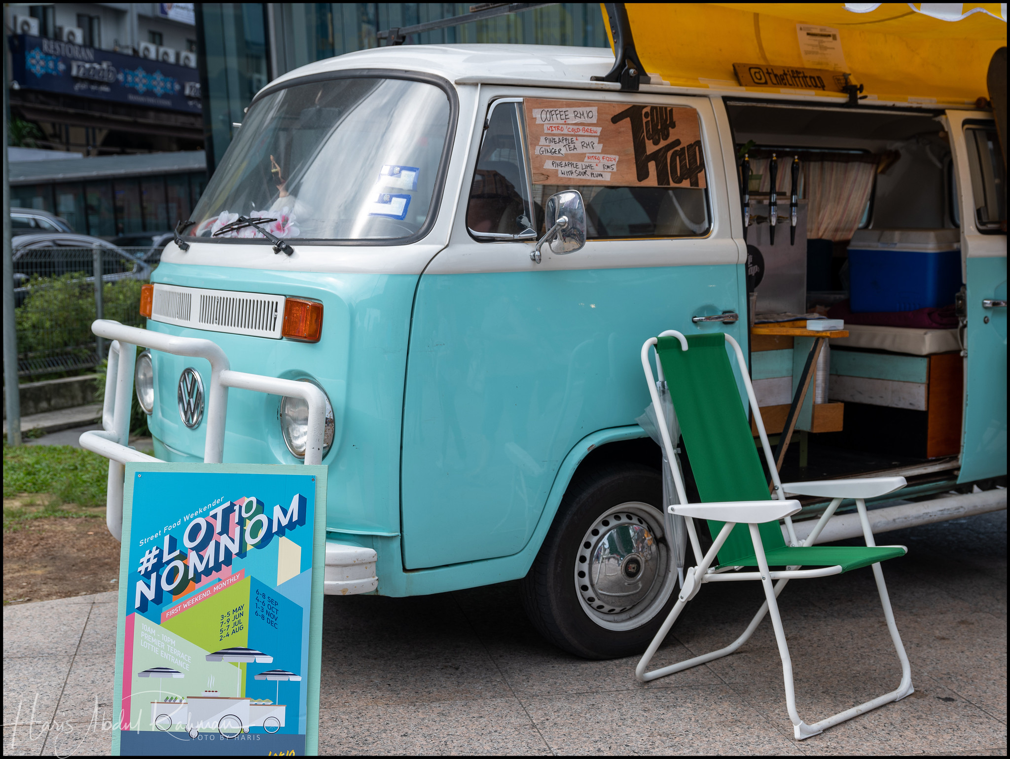 A cute campervan being turned into a food truck