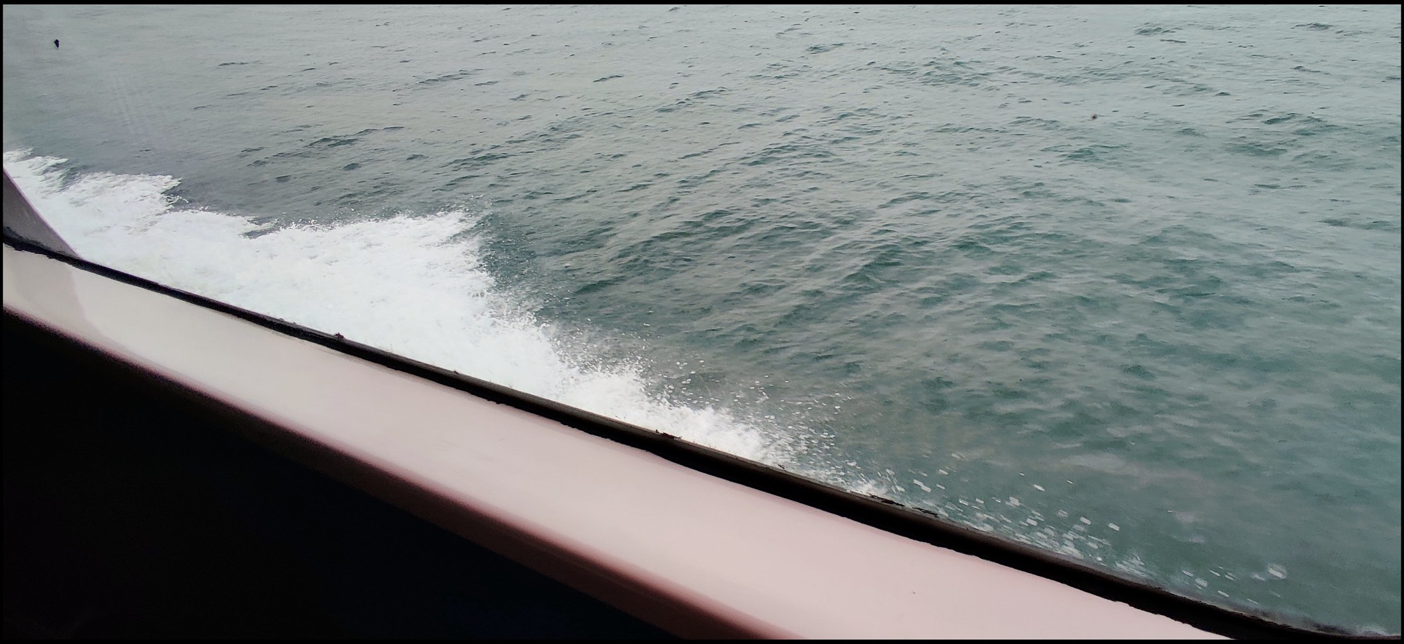 In the middle of the sea. Smooth rides and fair winds.