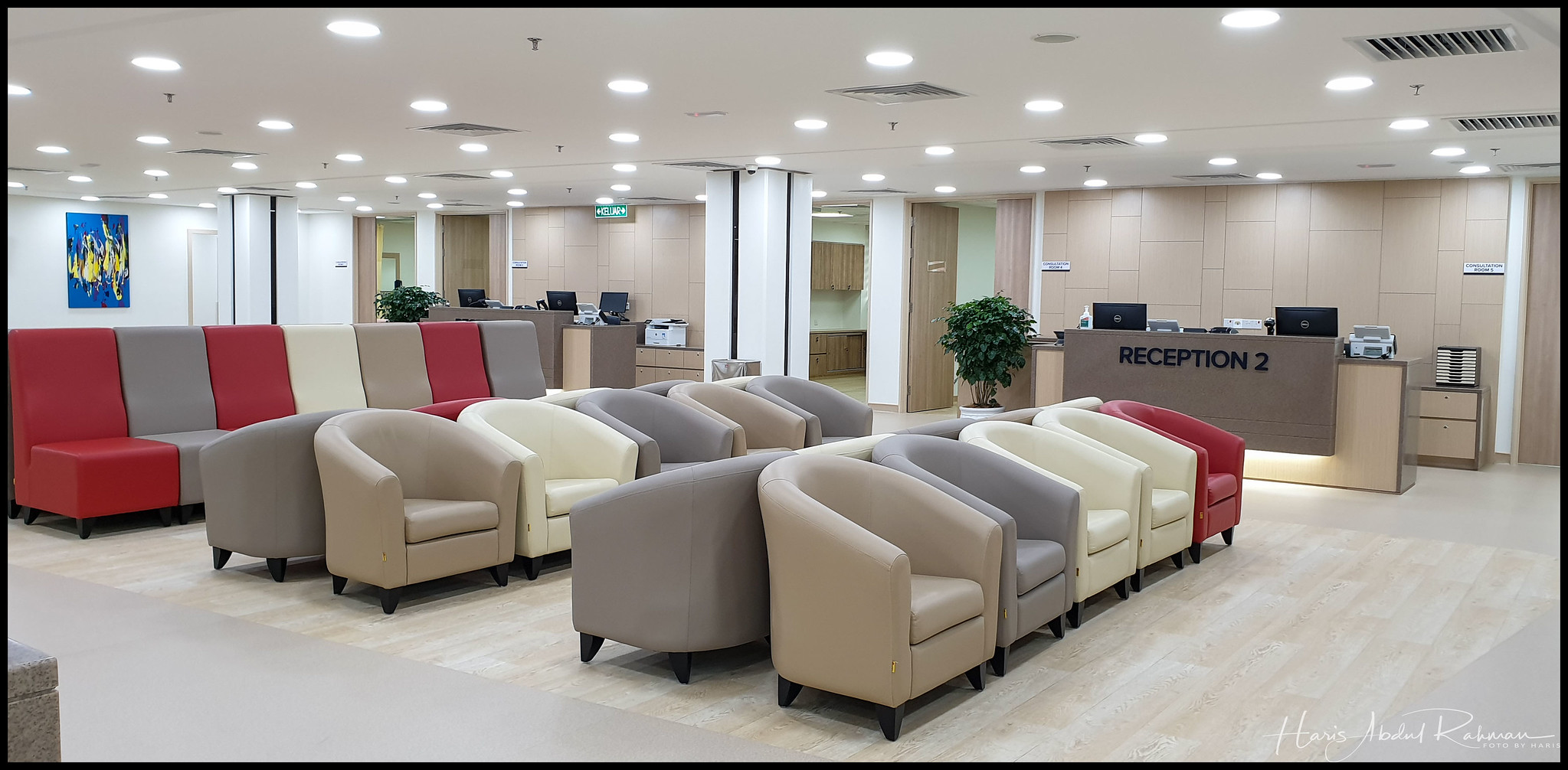 Comfortable seating area for patients