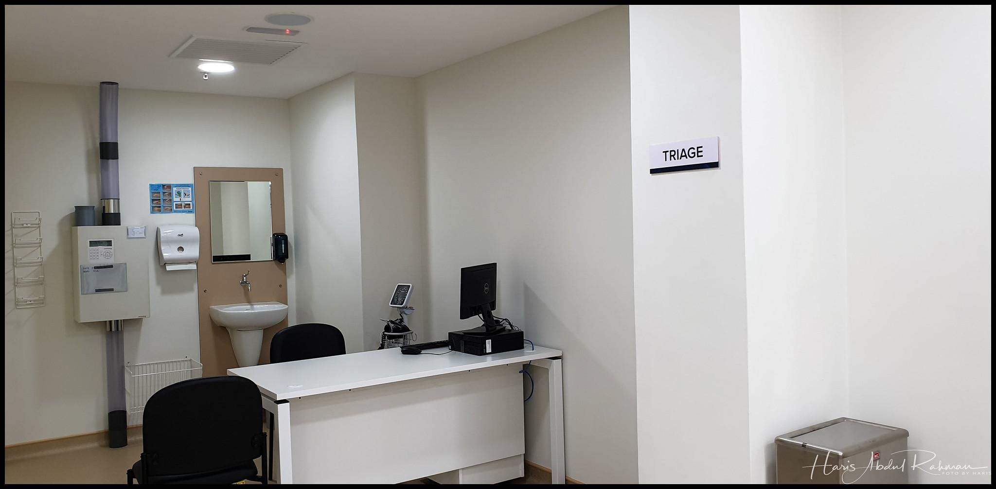 The Nurse triage area