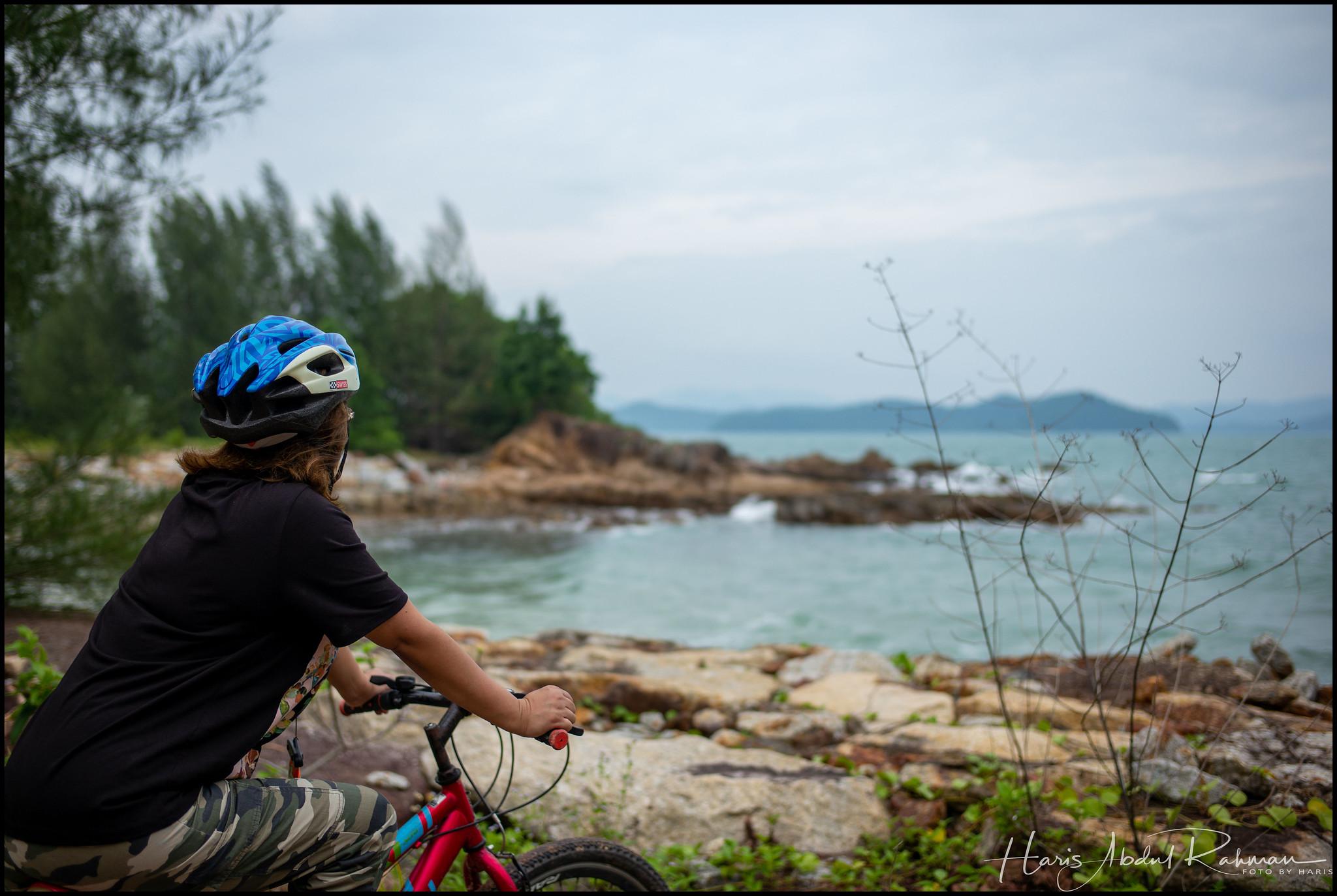 Anita taking a breather while enjoying the view