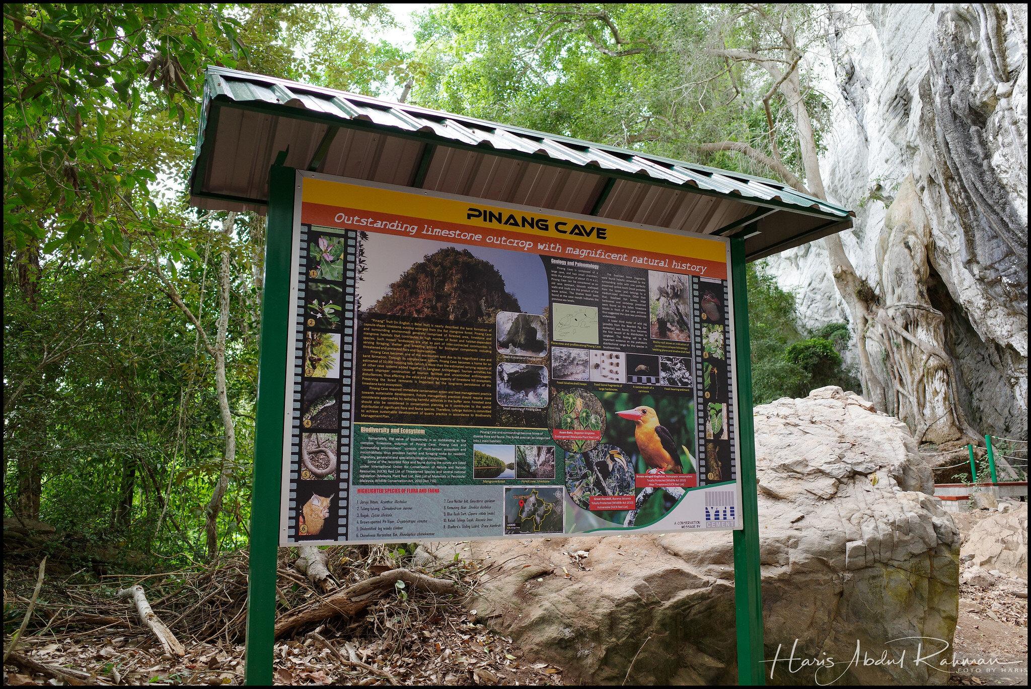 Entering Pinang Cave