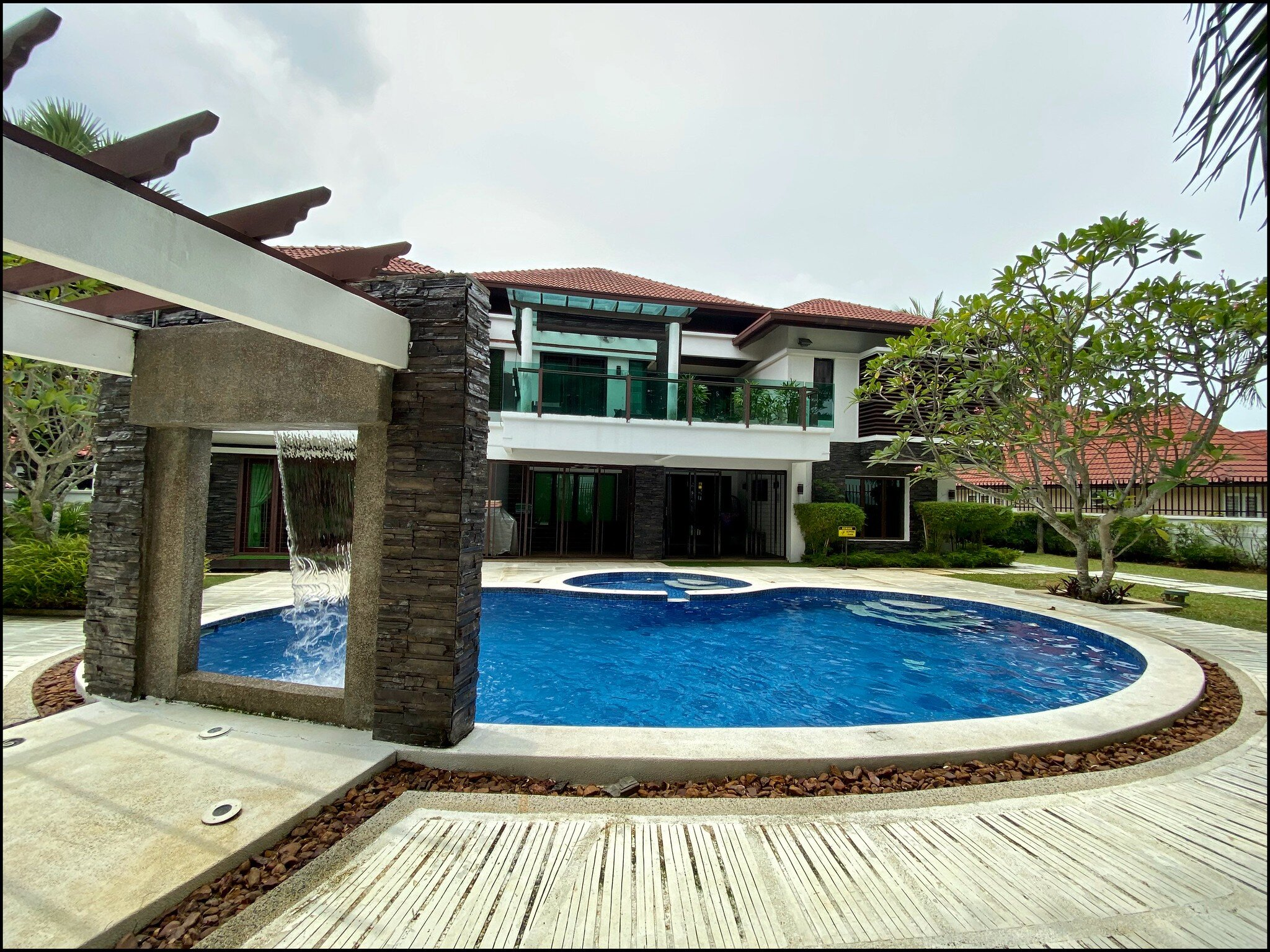 Overlooking the villa from the beach