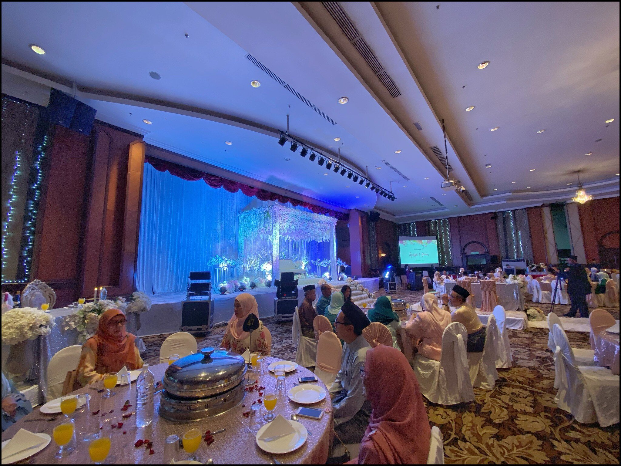 The pelamin from where I was seated