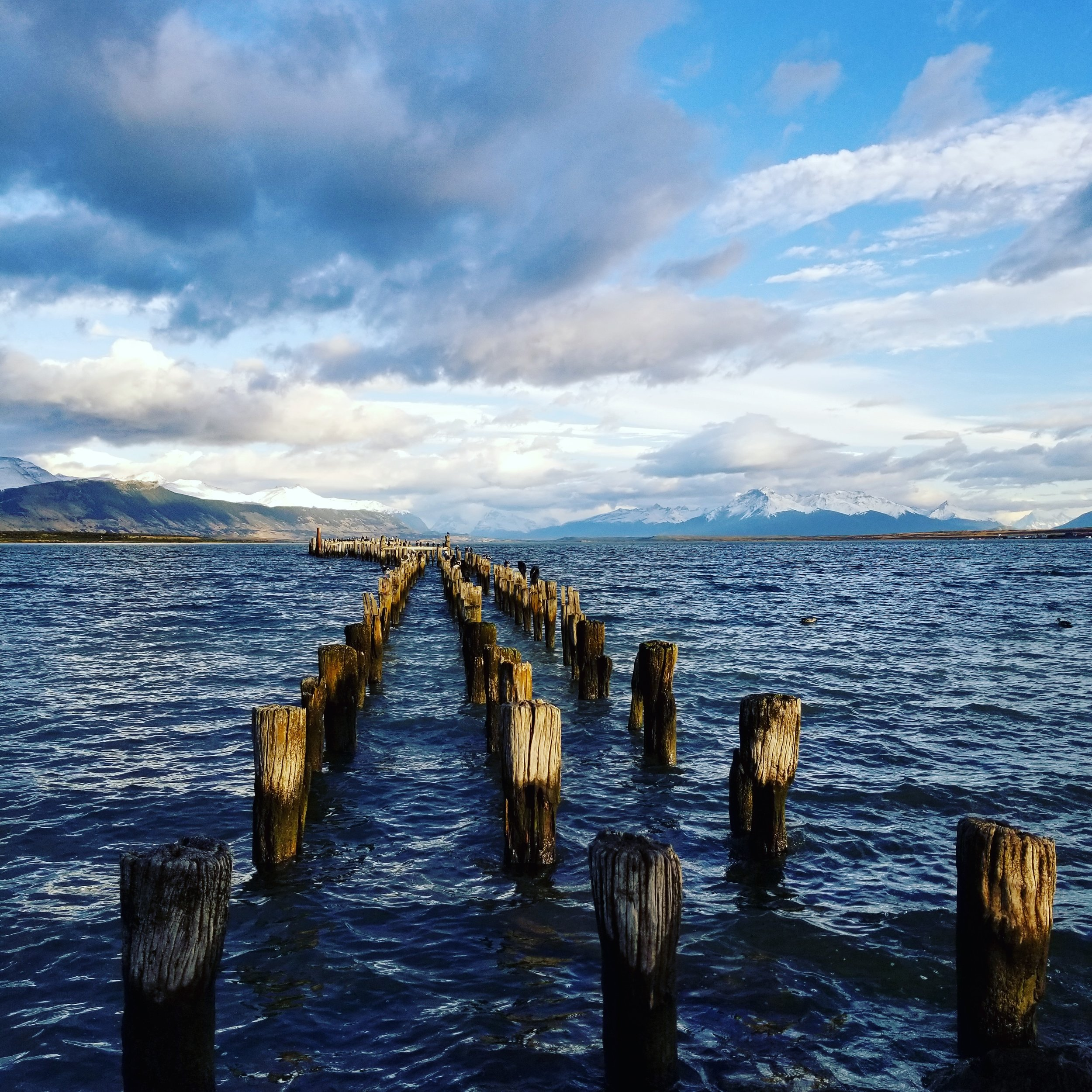 The view of the old pier in Puerto Natales!