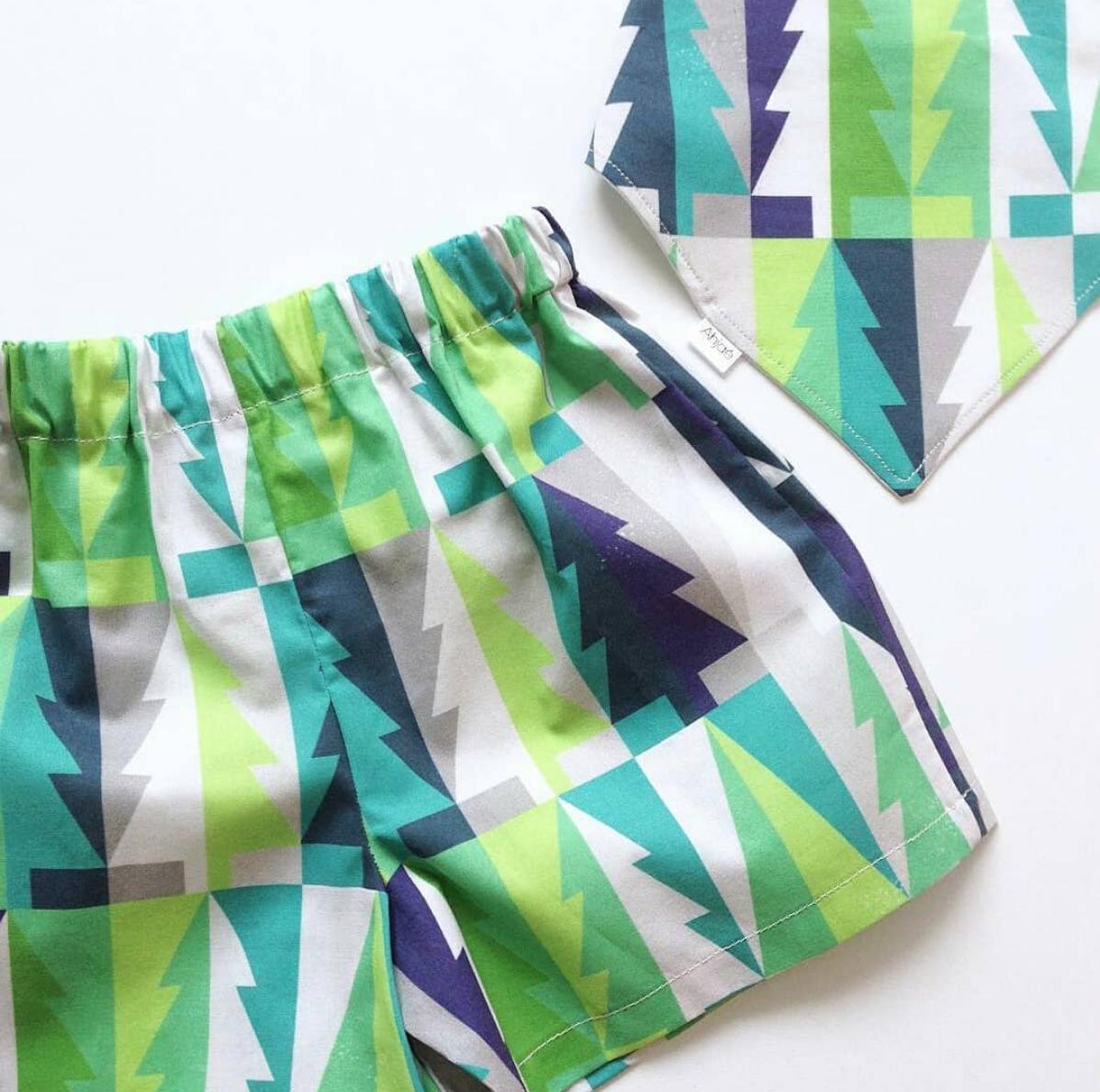 Textile Design used on shorts by Austrailian Designer @Ahjae -