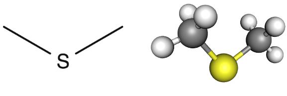 Algunas formas de representar al compuesto químico.
