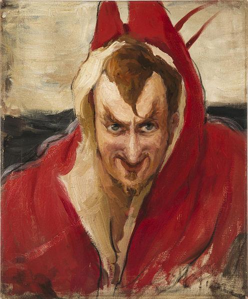 Seguro el diablo aparecía como un hombre con un aspecto parecido a este. Retrato de Grigoriy Grigoryevich Ge como 'Mephistopheles' (Ilya Repin).