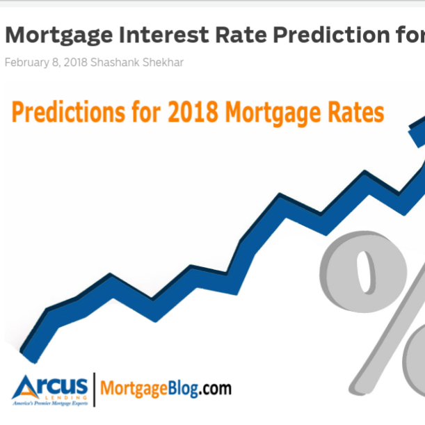 Mortgage Interest Rate Prediction for 2018    on MortgageBlog.com