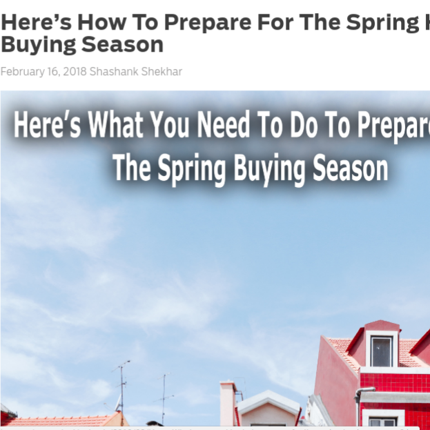 Here's How to Prepare for the Spring Home Buying Season    on MortgageBlog.com