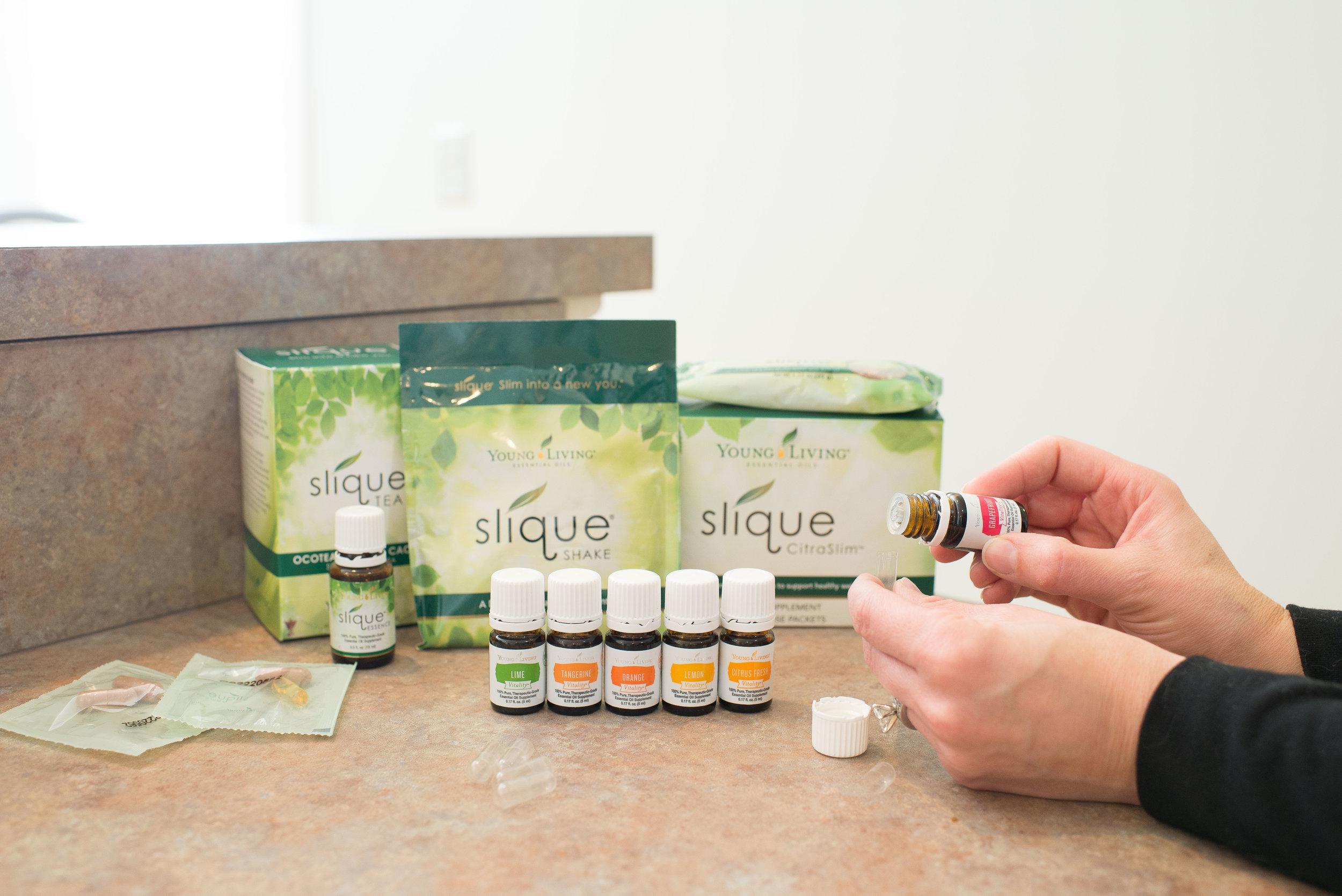 Essential Oils Weight Management Slique Line