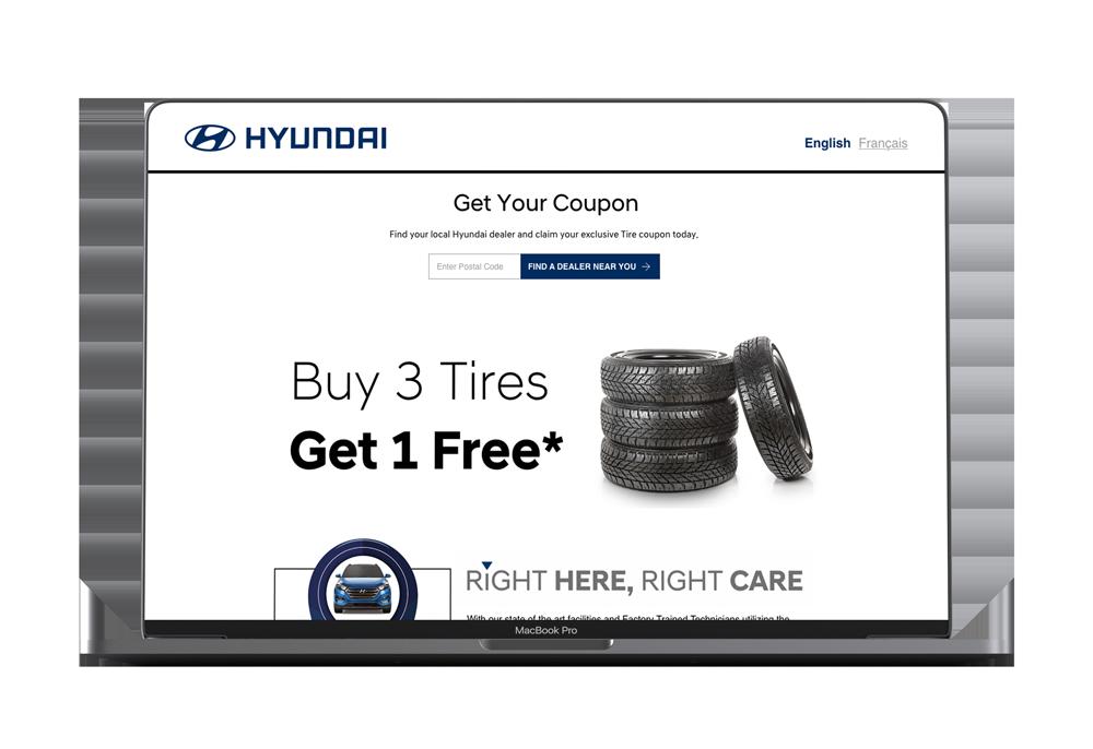 Hyundai Canada Coupon Campaign