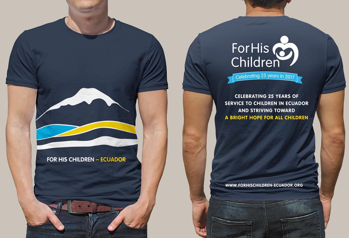 T-Shirt Design - For His Children/Hogar Para Sus Niños