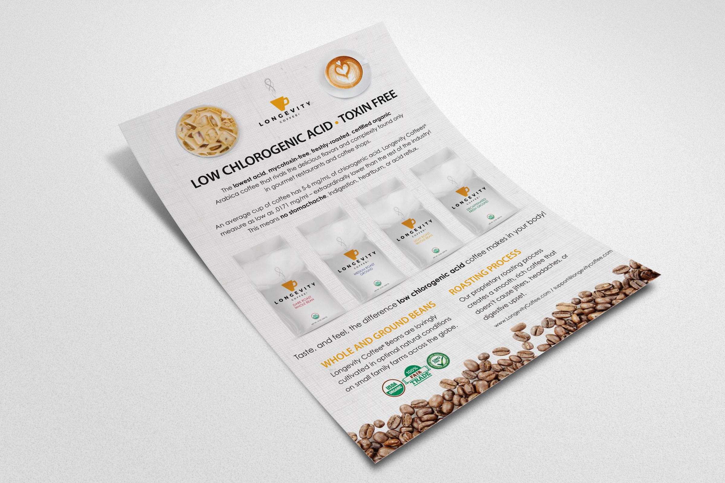 Flyer Design - New Horizon Health/Longevity Coffee
