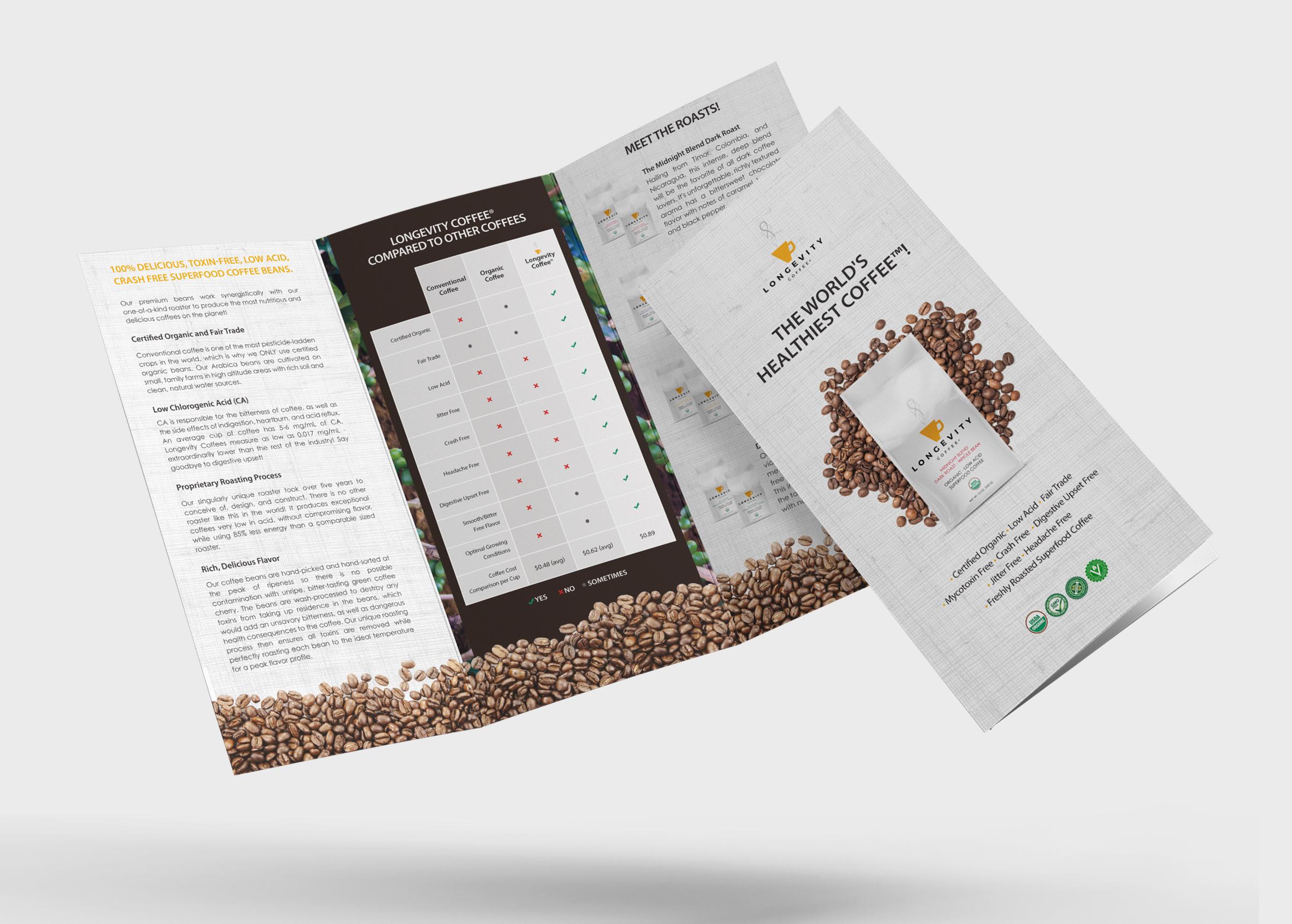 Brochure Design - New Horizon Health/ Longevity Coffee