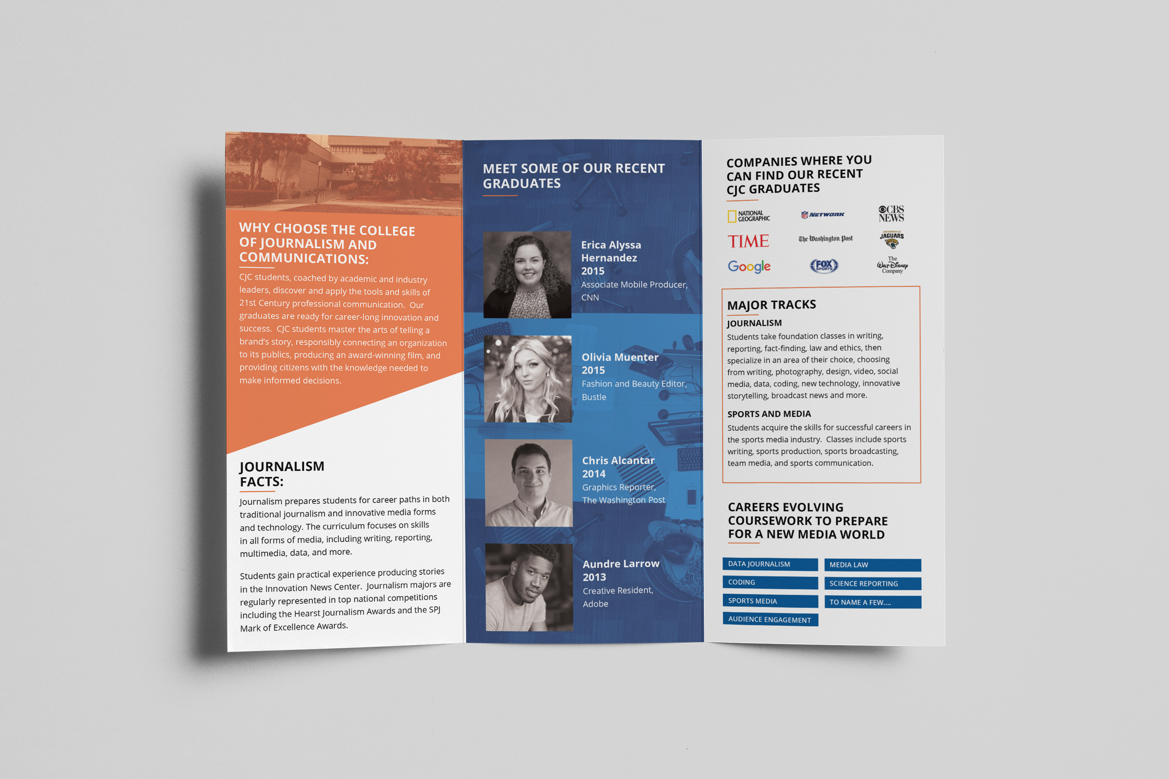 Brochure Design - University of Florida College of Journalism and Communications