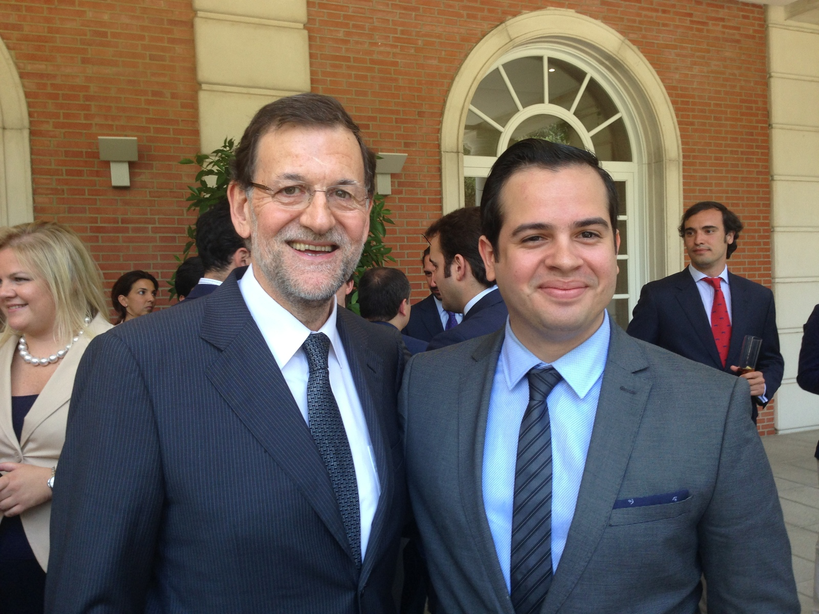Mariano Rajoy, Prime Minister of Spain (2013) and Rui Delgado.-