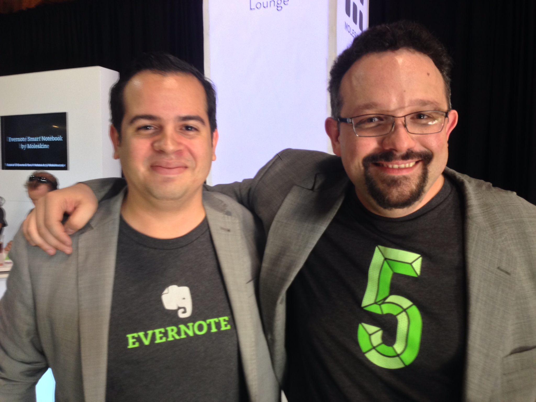 Rui Delgado and Phil Libin, then CEO of Evernote.