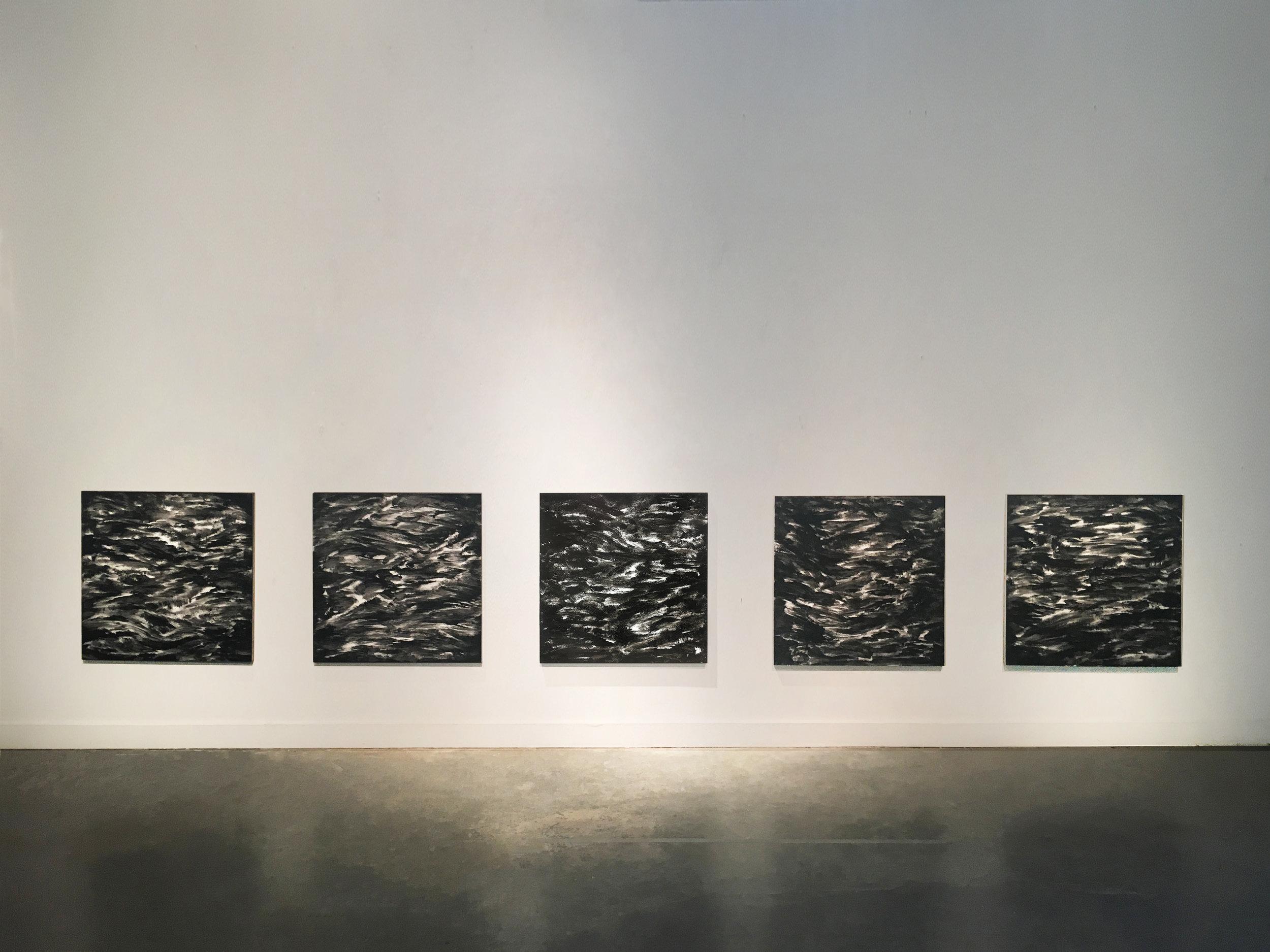 Black Water Painting Series