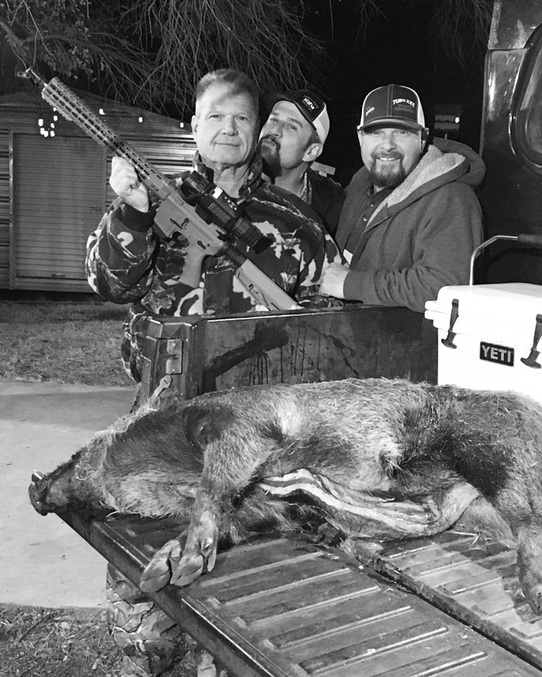 Pro Staffer Chester Barnes (right) with friends and family at the deer lease
