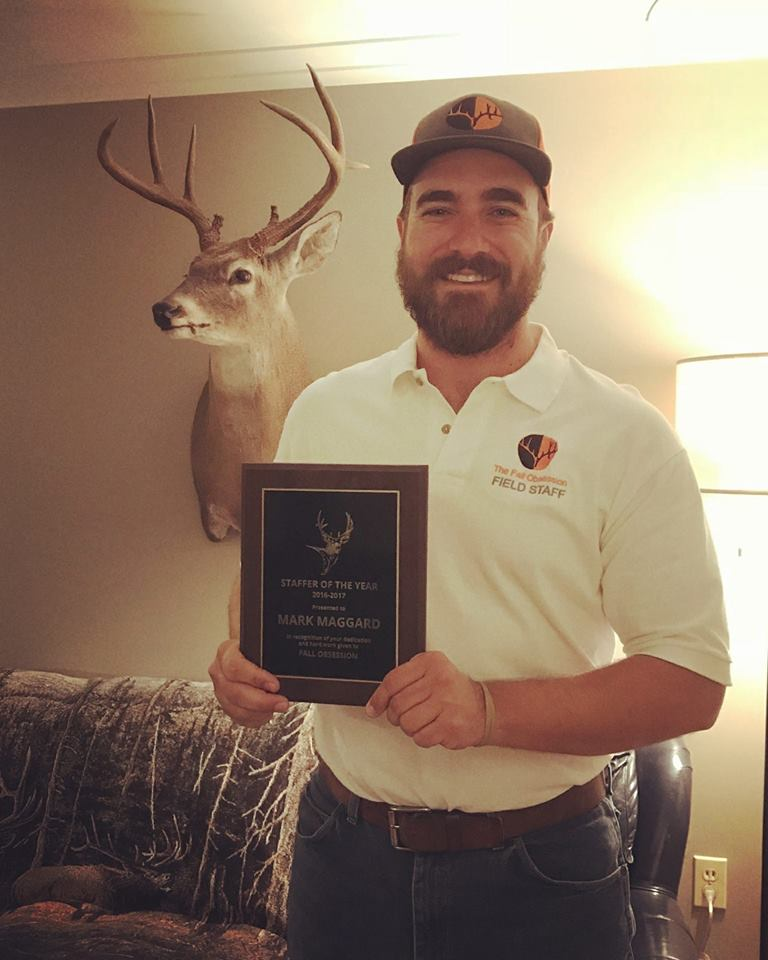 Pro Staffer Mark Maggard after receiving our 2016-17 Staffer of the Year Award