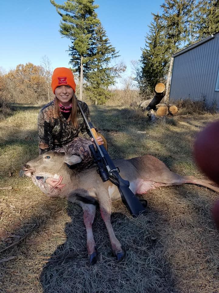 Field Staffer Peter Hrubes' girlfriend and her first deer