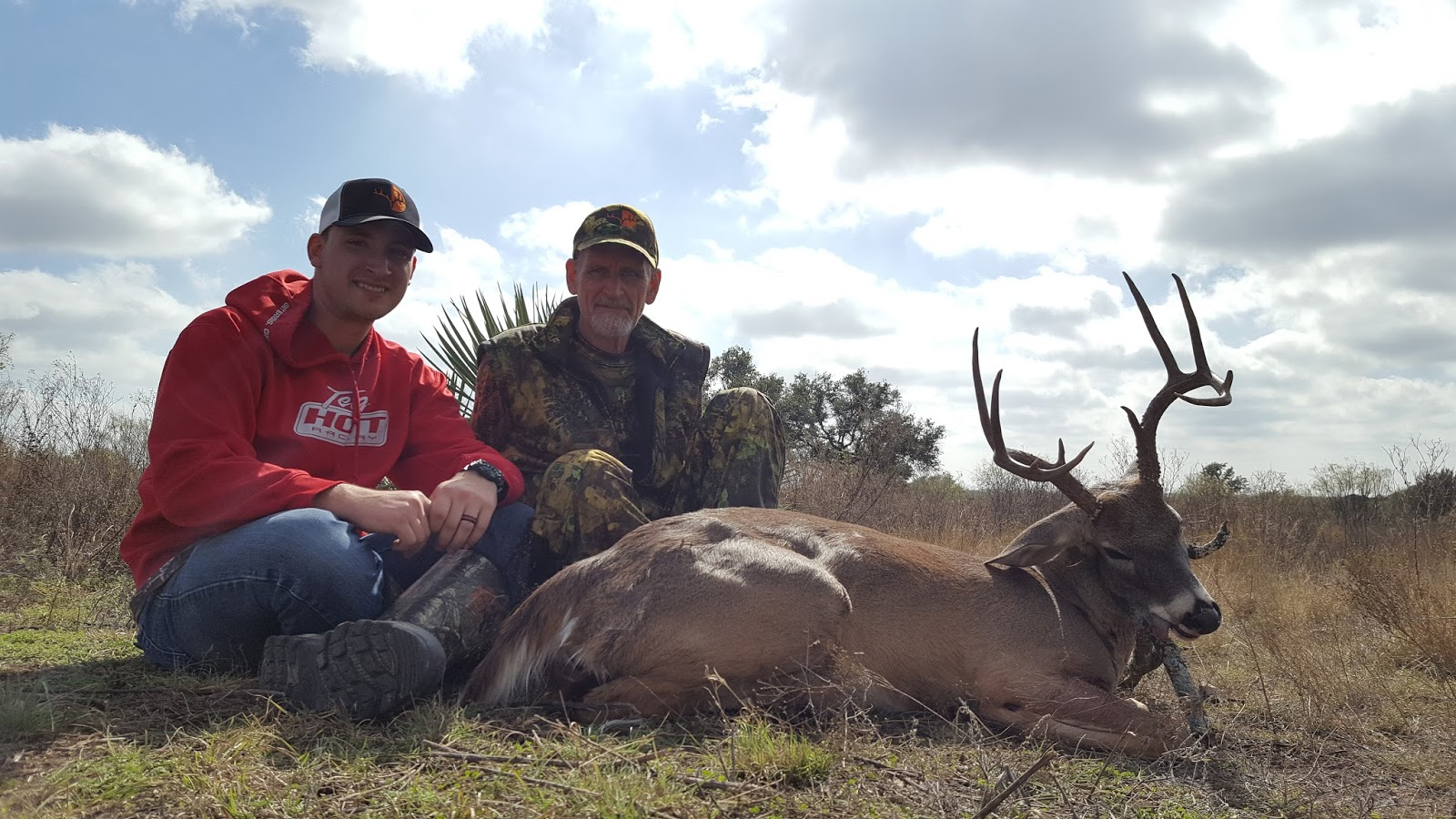 Pro Staffer Sam Thrash (left) and his dad after a successful Texas hunt