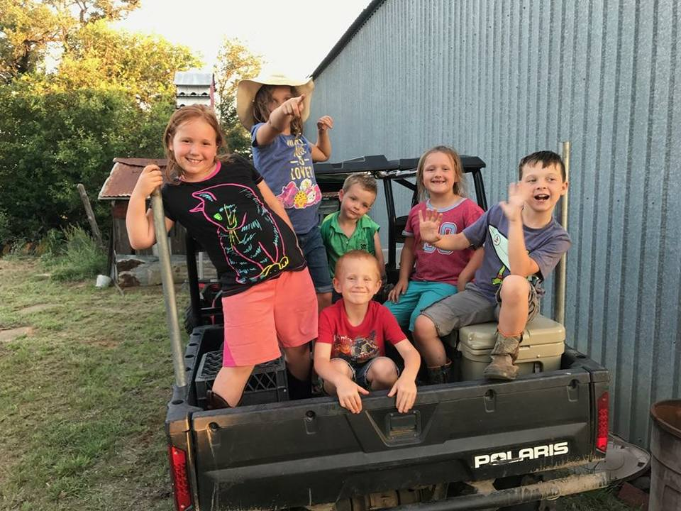 A bunch of future hunters at Pro Staffer Chester Barnes' lease