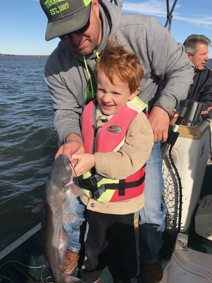 Pro Staffer Chester Barnes fishing with his son Lane