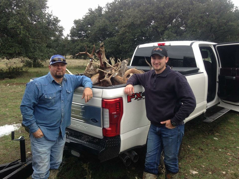 Pro Staffers Chester Barnes (left) and Sam Thrash after a successful South Texas hunt