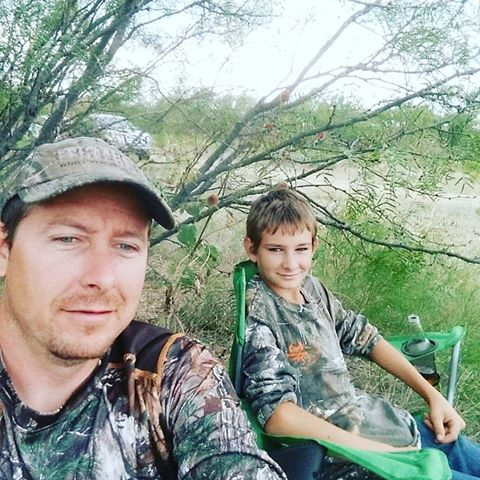 Pro Staffer Nick Latham and his son, Byron