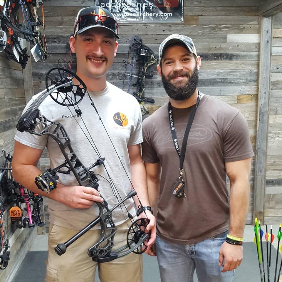 Sam Thrash (left) and CCR Bow Tech Michael Peterman