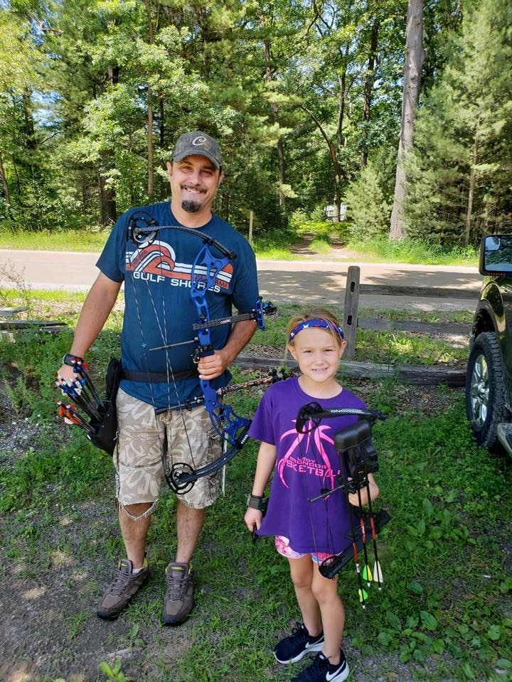 Shooting with Field Staffer Todd Sellon and his daughter